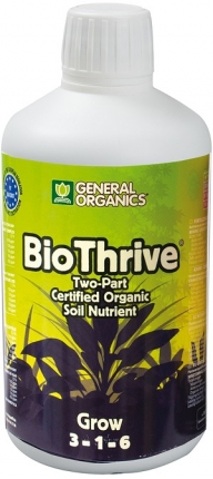 General Hydroponics General Organics Bio Thrive Grow 500ml